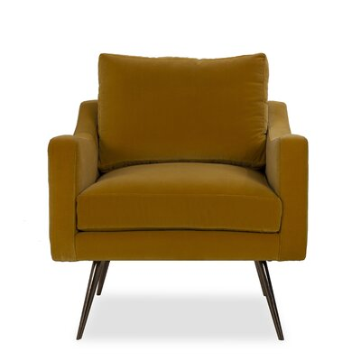 Oliver Armchair Upholstery: Leather Umber
