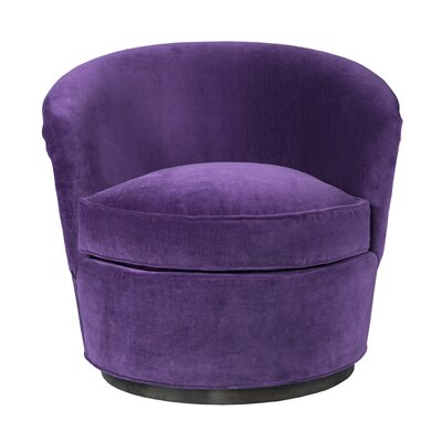 Selina Swivel Barrel Chair Upholstery: Fabric Xena Midnight