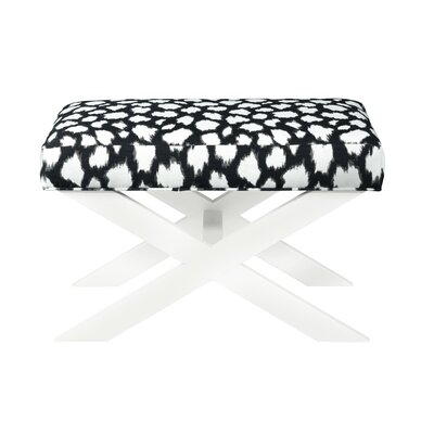 Alec Ottoman Upholstery: Fabric Marbella Optic White