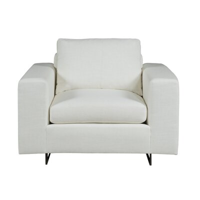 Ian Armchair Upholstery: Fabric Marbella Optic White