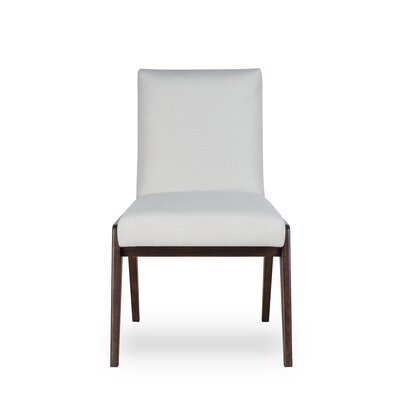 Owen Upholstered Dining Chair Upholstery Color: Fabric Neighbor Chocolate