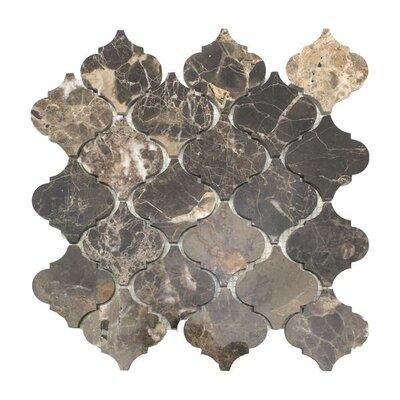Lantern Emperador 3 x 3 Marble Mosaic Tile in Dark