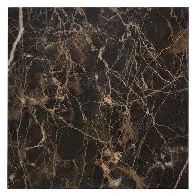 Emperador 12 x 12 Marble Field Tile in Dark
