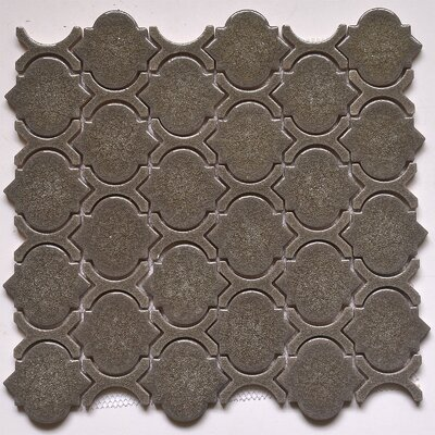Crackled Random Sized Glass Mosaic Tile in Gray