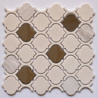 Random Sized Glass/Stone Mosaic Tile in Chrome