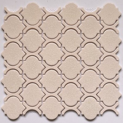 Crackled 11 X 12 Glass Mosaic Tile in Alabaster
