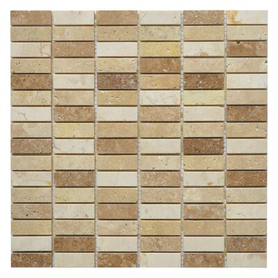 Nevada Loaf 0.63 x 2 Marble Mosaic Tile in Yellow/Brown