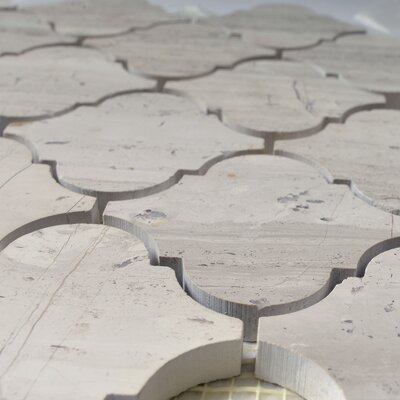 Lantern 3 x 3 Marble Mosaic Tile in White Oak