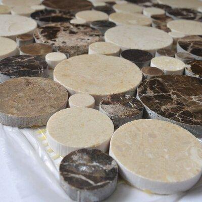 Bolle Emperador Random Sized Marble Mosaic Tile in Dark