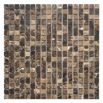 Emperador 0.62 x 0.62 Marble Mosaic Tile in Dark