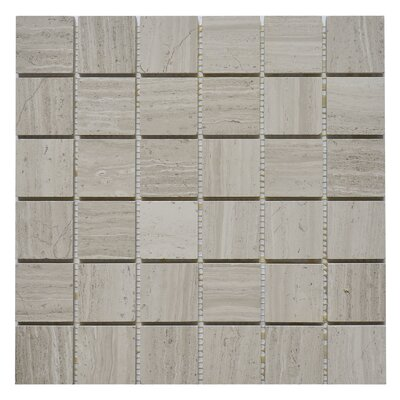 2 x 2 Marble Mosaic Tile in White Oak