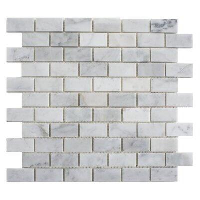 Carrara Brick 1 x 2 Marble Mosaic Tile in White