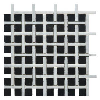 Apartment New York Random Sized Marble Mosaic Tile in White/Black