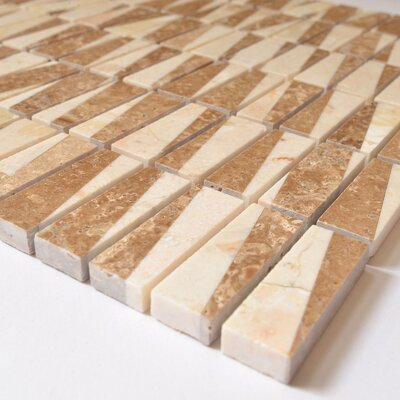 Bamboo 0.63 x 2 Marble Mosaic Tile in Cafe