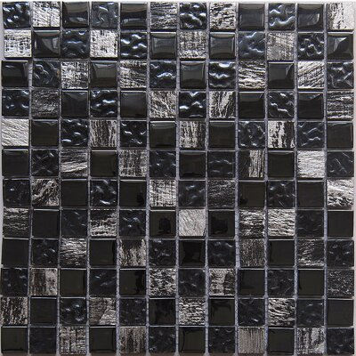 Astro Knight 1 x 1 Glass Mosaic Tile in Dark
