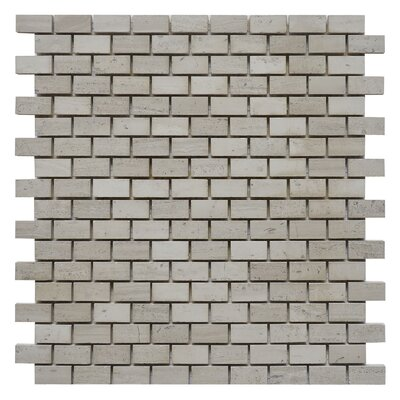 Brick 0.62 x 1.25 Marble Mosaic Tile in White Oak