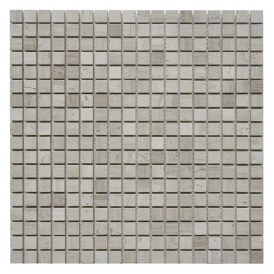 0.63 x 0.63 Marble Mosaic Tile in White Oak