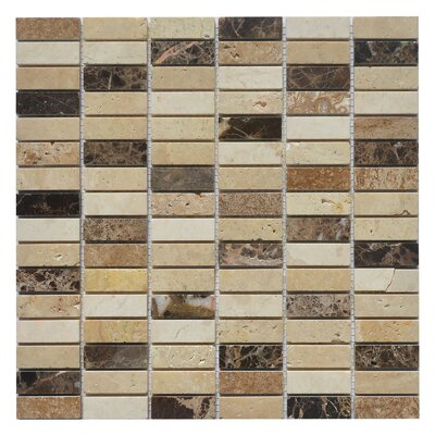 Nevada Rice 0.63 x 2 Marble Mosaic Tile in Rice Yellow/Brown