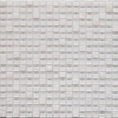 Freeze Square 0.63 x 0.63 Mosaic Tile in White