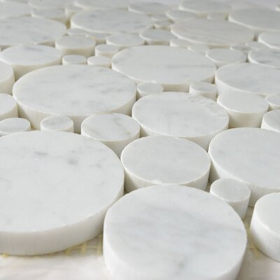 Bolle Carrara Random Sized Marble Mosaic Tile in White