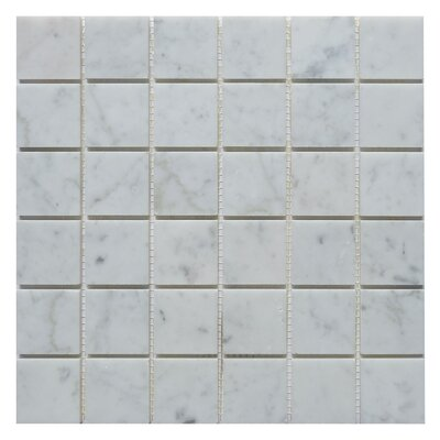 Carrara 2 x 2 Marble Mosaic Tile in White
