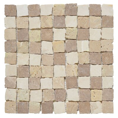 Rabat Pissaro 1.25 x 1.25 Marble Mosaic Tile in White/Yellow