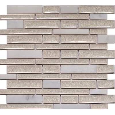 Urban Yukon Crackled Random Sized Glass Mosaic Tile in White/Gray