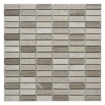 Nevada Willow 0.63 x 2 Marble Mosaic Tile in White/Gray