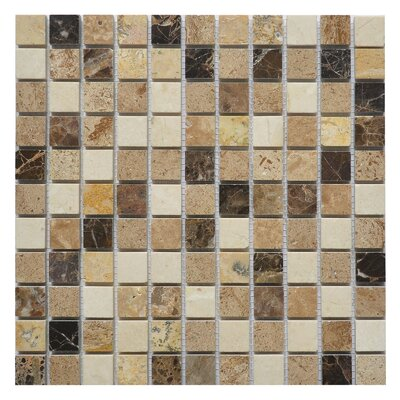 Soul Breeze 1 x 1 Marble Mosaic Tile in Breeze White/Brown