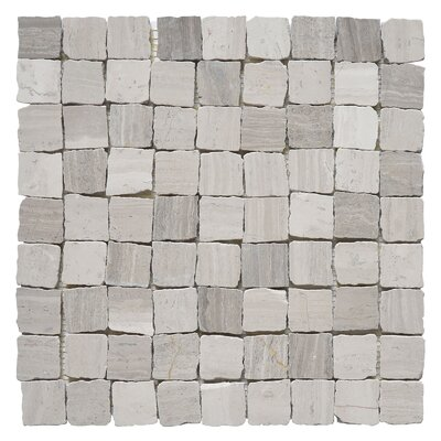 Rabat Patio 1.25 x 1.25 Marble Mosaic Tile in Gray