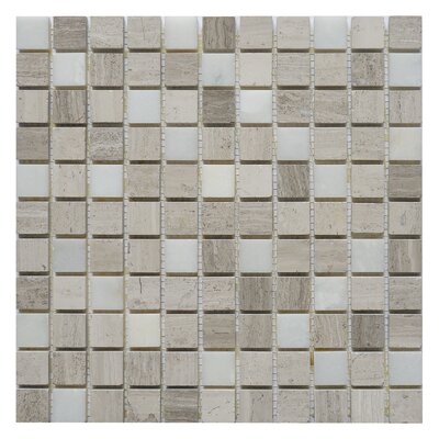 Soul Surge 1 x 1 Marble Mosaic Tile in Surge White/Gray