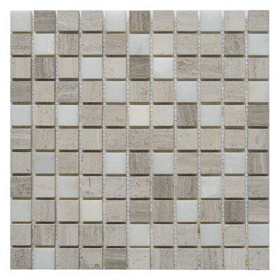 Soul Surge 1 x 1 Marble Mosaic Tile in Surge White/Gray
