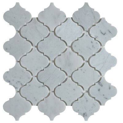 Lantern Carrara 3 x 3 Marble Mosaic Tile in White