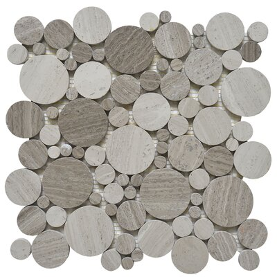 Bolle Random Sized Marble Mosaic Tile in White Oak