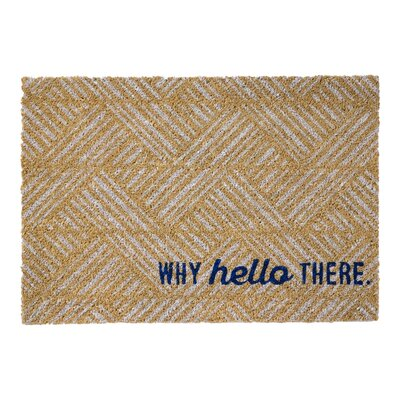 Why Hello There Sentiment Doormat