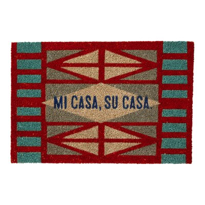Clarette Coir with Mi Casa, Su Casa Sentiment Doormat
