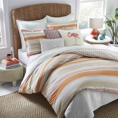 Ensley Cotton Reversible Duvet Cover Set Size: King