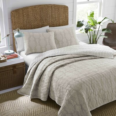 Everglades Cotton Reversible Quilt Set Size: Full/Queen