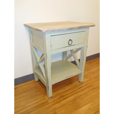 Heartwell End Table Finish: Cr�me De Menthe/Lime Wash