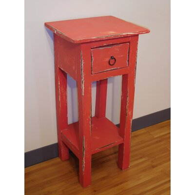 Elle End Table Finish: Red