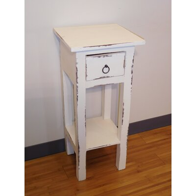 Elle End Table Finish: White