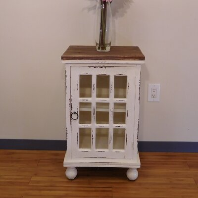 Preston End Table Color: White Wash
