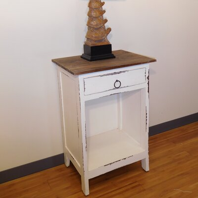 Mabry End Table Finish: White Wash