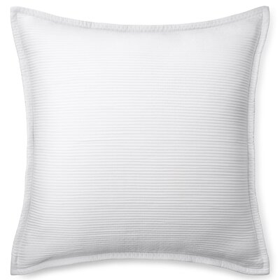 Spencer Matelasse Euro Sham Color: White