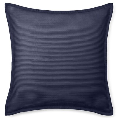 Spencer Matelasse Euro Sham Color: Navy