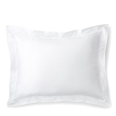 Spencer Border Sham Size: Standard/Twin, Color: White