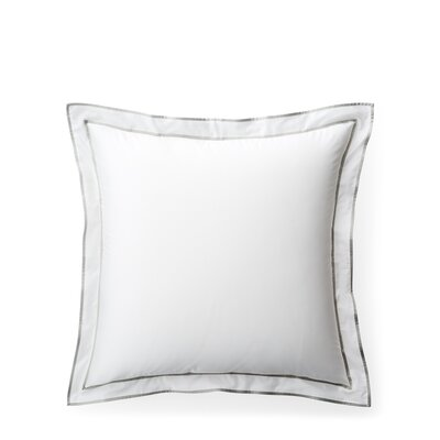 Spencer Border Sham Size: King, Color: White/Gray