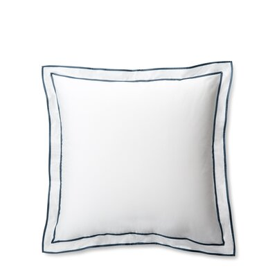 Spencer Border Euro Sham Color: White/King Fisher Blue