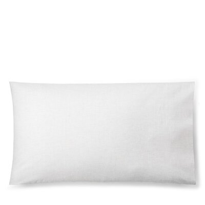 Graydon Melange Pillow Case Size: King, Color: White