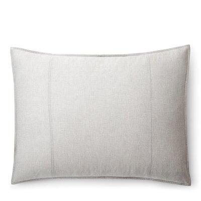Graydon Melange Sham Size: Standard/Twin, Color: Fog